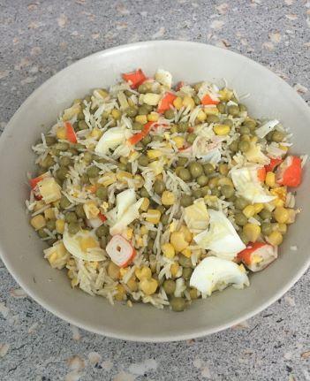 Salada de Bacalhau com Arroz